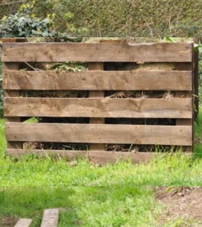 Compostera de madera