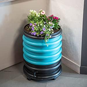 compostera de lombrices wormbox con jardinera